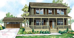 Country Traditional House Plan 59432 Elevation