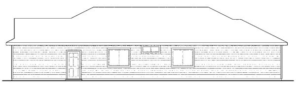 Contemporary Cottage Craftsman Florida Ranch House Plan 59433 Rear Elevation