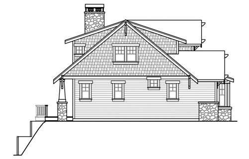 Bungalow, Cottage, Traditional House Plan 59434 with 3 Beds, 4 Baths, 3 Car Garage Picture 1