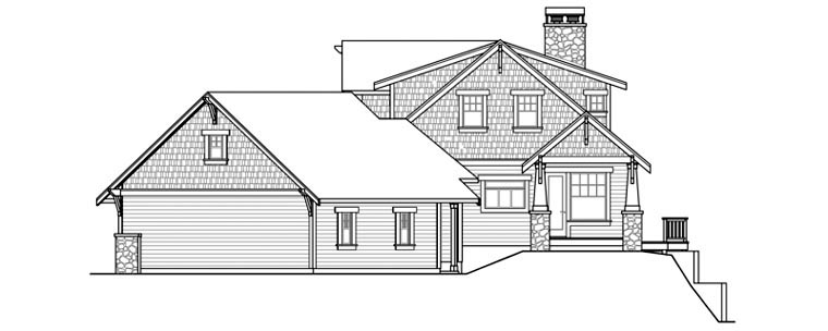 Bungalow, Cottage, Traditional House Plan 59434 with 3 Beds, 4 Baths, 3 Car Garage Picture 2