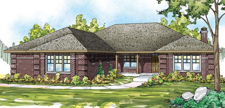 European Traditional House Plan 59435 Elevation