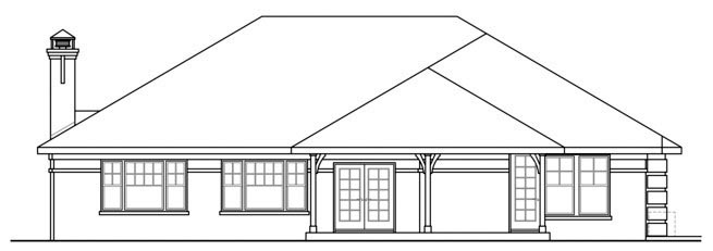 European Traditional House Plan 59435 Rear Elevation