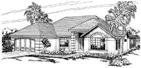 Mediterranean Ranch House Plan 59437 Elevation