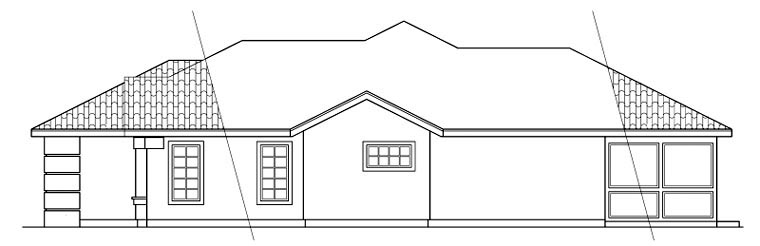 Mediterranean, Ranch House Plan 59437 with 3 Beds, 2 Baths, 2 Car Garage Picture 2