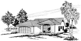 Southwest House Plan 59438 Elevation