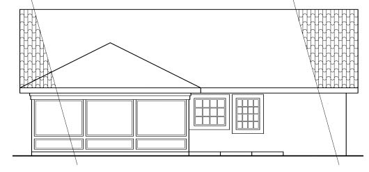 Southwest House Plan 59438 Rear Elevation