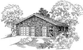 Garage Plan 59440 | Country Style Plan, 1 Car Garage Elevation