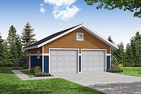 Garage Plan 59442 | Craftsman Style Plan, 2 Car Garage Elevation
