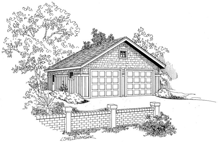 Craftsman Garage Plan 59442 Elevation