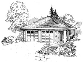 Craftsman Traditional Garage Plan 59445 Elevation