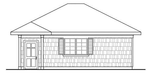 Craftsman, Traditional 2 Car Garage Plan 59445 Picture 2