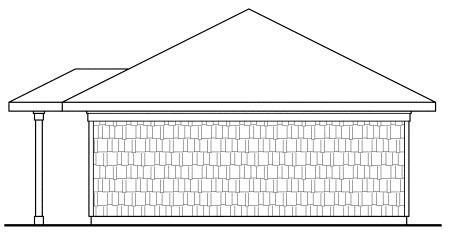 Craftsman Traditional Garage Plan 59445 Rear Elevation