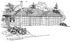 Contemporary Traditional Garage Plan 59449 Elevation