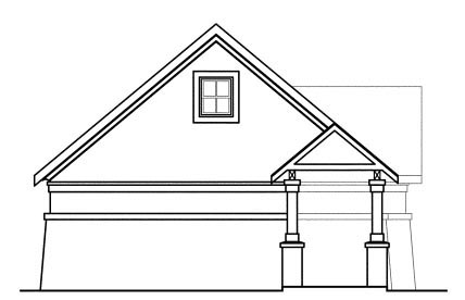 European, Traditional 3 Car Garage Apartment Plan 59451 Rear Elevation