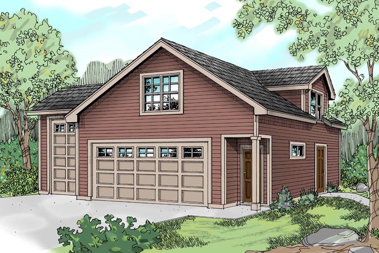 Country Craftsman Traditional Garage Plan 59452 Elevation