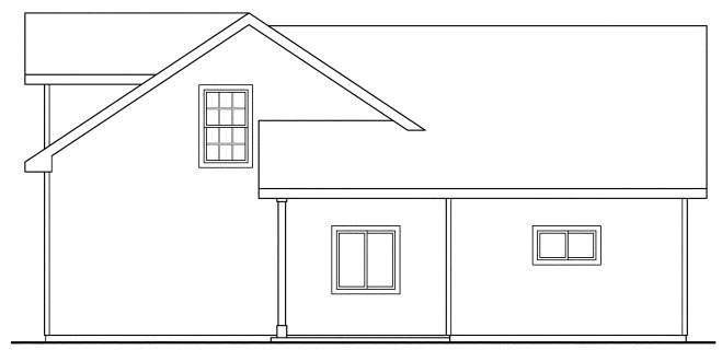 Country Craftsman Traditional Garage Plan 59452 Rear Elevation