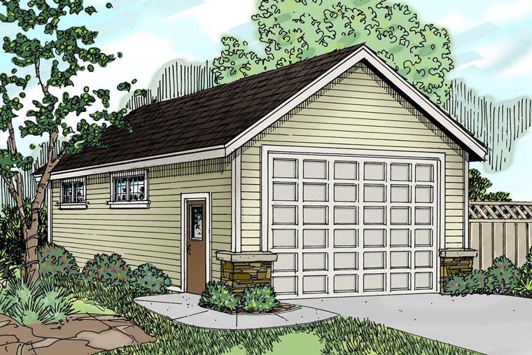 Traditional Garage Plan 59453 Elevation