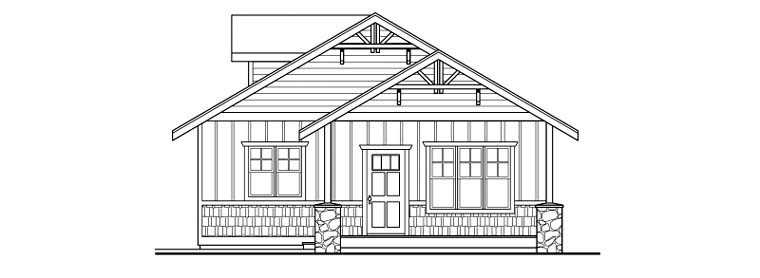 Craftsman 2 Car Garage Plan 59457 Picture 2