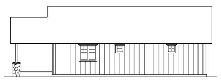Craftsman Rear Elevation of Plan 59457