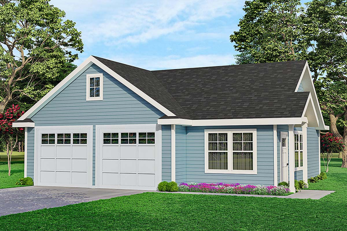 Traditional Garage Plan 59458 Elevation