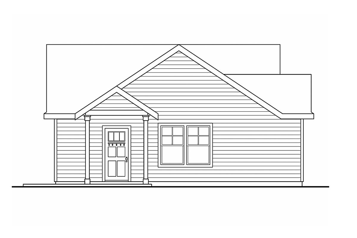 Traditional 2 Car Garage Apartment Plan 59458 Picture 1
