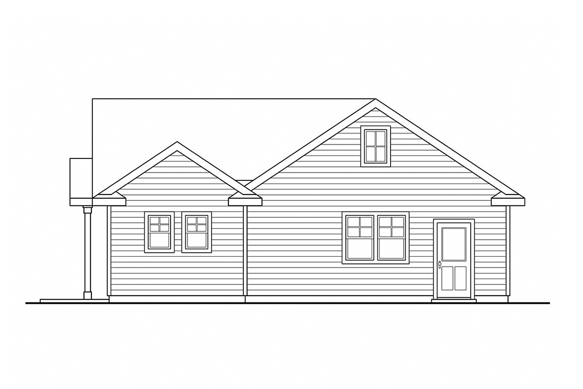 Traditional Garage Plan 59458 Rear Elevation