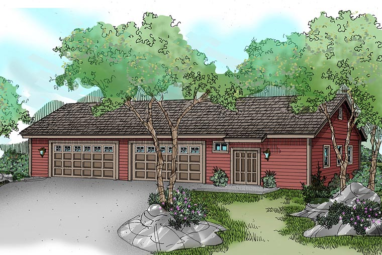 Traditional Garage Plan 59459 Elevation