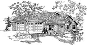 Craftsman Garage Plan 59464 Elevation
