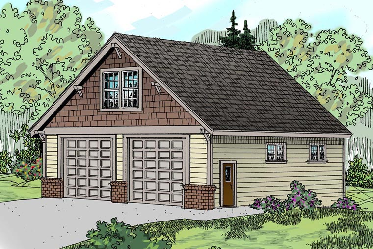Craftsman Garage Plan 59466 Elevation