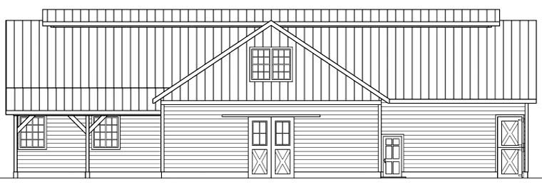Country 0 Car Garage Plan 59467 with 1 Beds, 1 Baths Picture 1