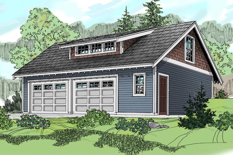 Craftsman Garage Plan 59469 Elevation