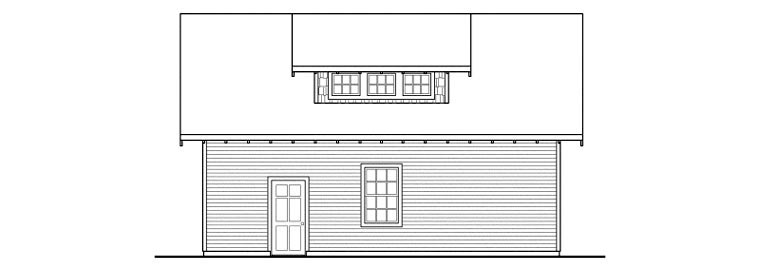 Craftsman 2 Car Garage Apartment Plan 59469 Rear Elevation
