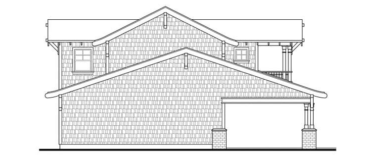 Bungalow, Craftsman 5 Car Garage Apartment Plan 59472 with 1 Beds, 2 Baths Picture 1