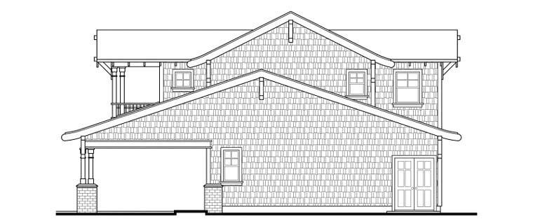 Bungalow, Craftsman 5 Car Garage Apartment Plan 59472 with 1 Beds, 2 Baths Picture 2