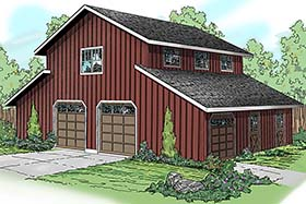 Country Style 0 Car Garage Apartment Plan 59474
