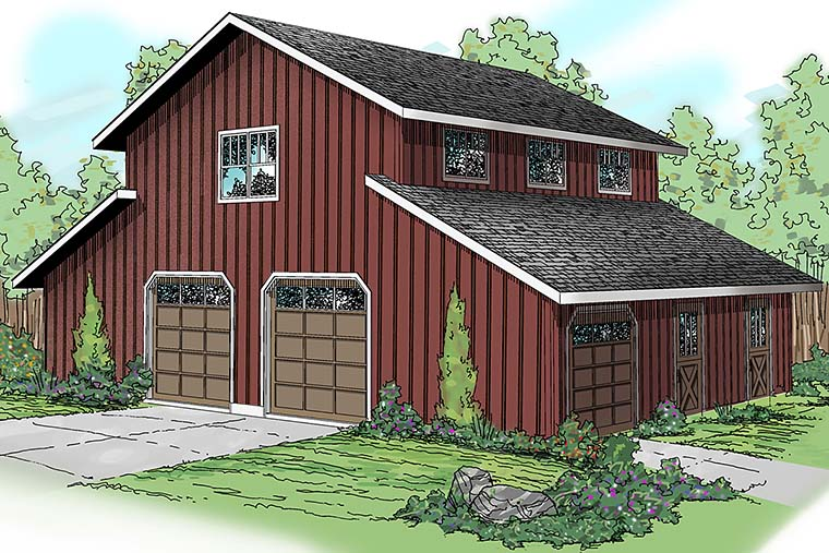 Country 0 Car Garage Apartment Plan 59474 Elevation