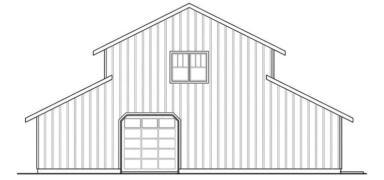 Country Garage Plan 59474 Rear Elevation