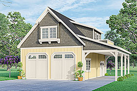 Country Craftsman Garage Plan 59478 Elevation