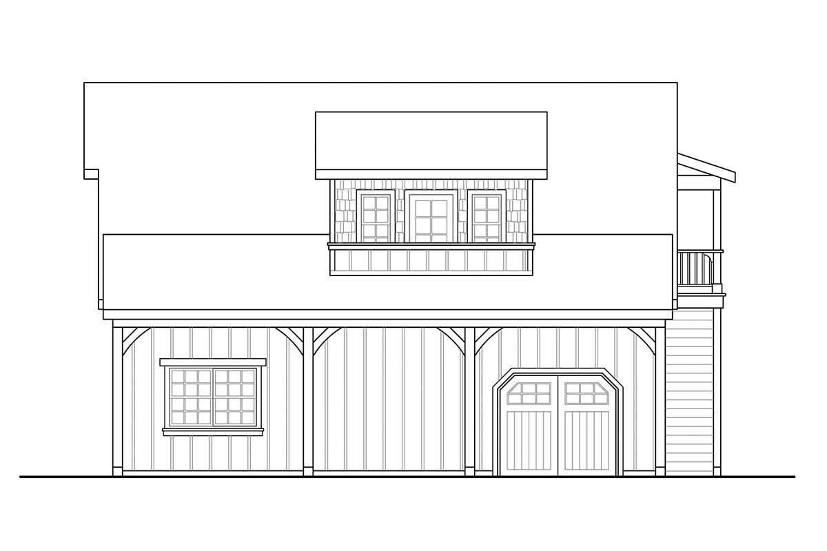 Country, Craftsman 2 Car Garage Plan 59478 Picture 1