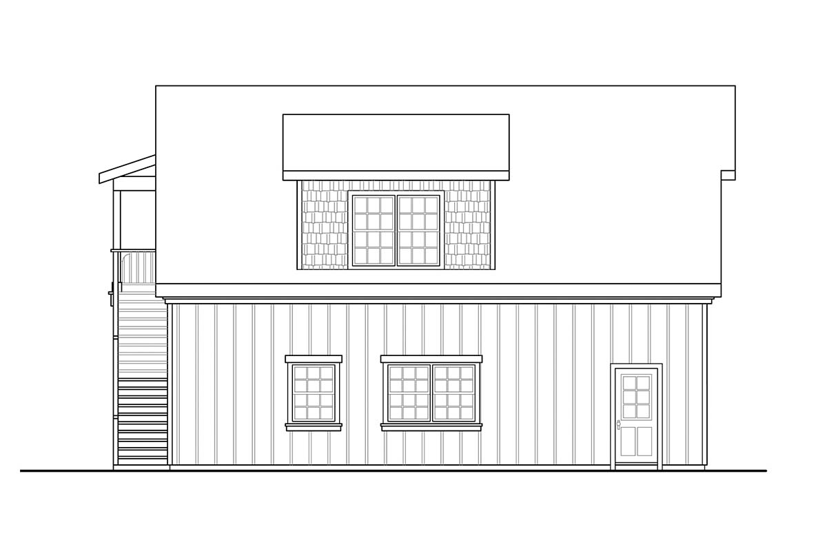 Country, Craftsman 2 Car Garage Plan 59478 Picture 2