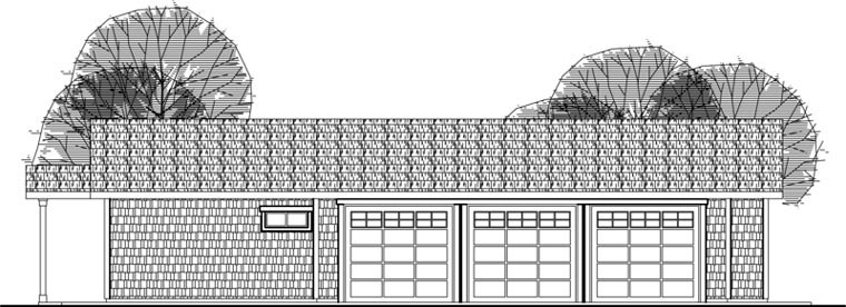 Craftsman Elevation of Plan 59480