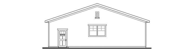 Craftsman 6 Car Garage Plan 59480 Picture 2
