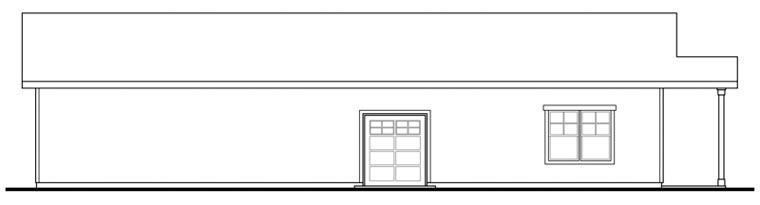 Craftsman Rear Elevation of Plan 59480