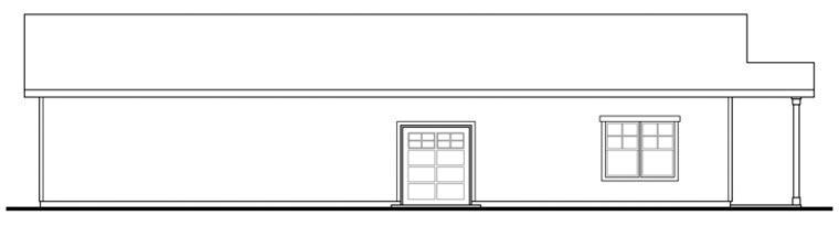 Craftsman Garage Plan 59480 Rear Elevation