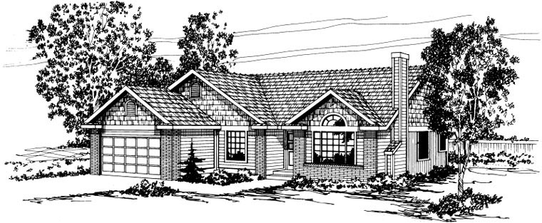 Cape Cod Ranch House Plan 59481 Elevation