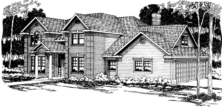 Colonial , Traditional , Elevation of Plan 59482