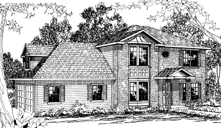Colonial Traditional Tudor Victorian House Plan 59483 Elevation