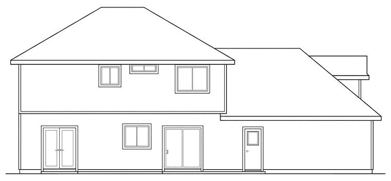 Colonial Traditional Tudor Victorian House Plan 59483 Rear Elevation