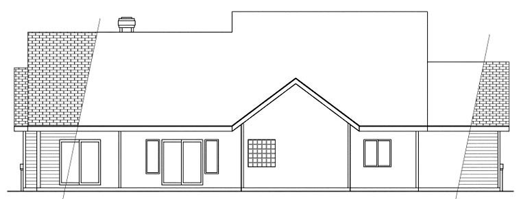 Contemporary Traditional House Plan 59484 Rear Elevation