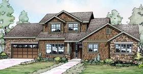 House Plan 59491 | Bungalow Cottage Craftsman Style Plan with 1770 Sq Ft, 3 Bedrooms, 3 Bathrooms, 2 Car Garage Elevation